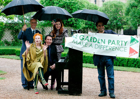 1 June. The Gardens of Clarence House.Garden Party curators and supporters: Dame Vivienne Westwood, Sanjeev Bhaskar, Jools Holland, Paloma Faith, and Roger Saul