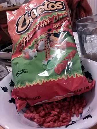 Spicy cheetos